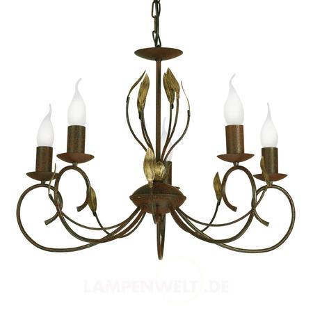 Stylowy żyrandol Candle 5-punktowy LAMPY.PL