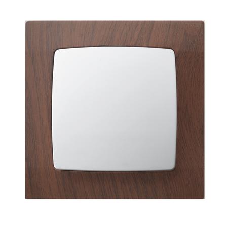 Łącznik jednobiegunowy ŁP-1S/00 ramka w kolorze wenge seria Karo OSPEL