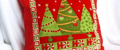 Poszewka świąteczna - choinki