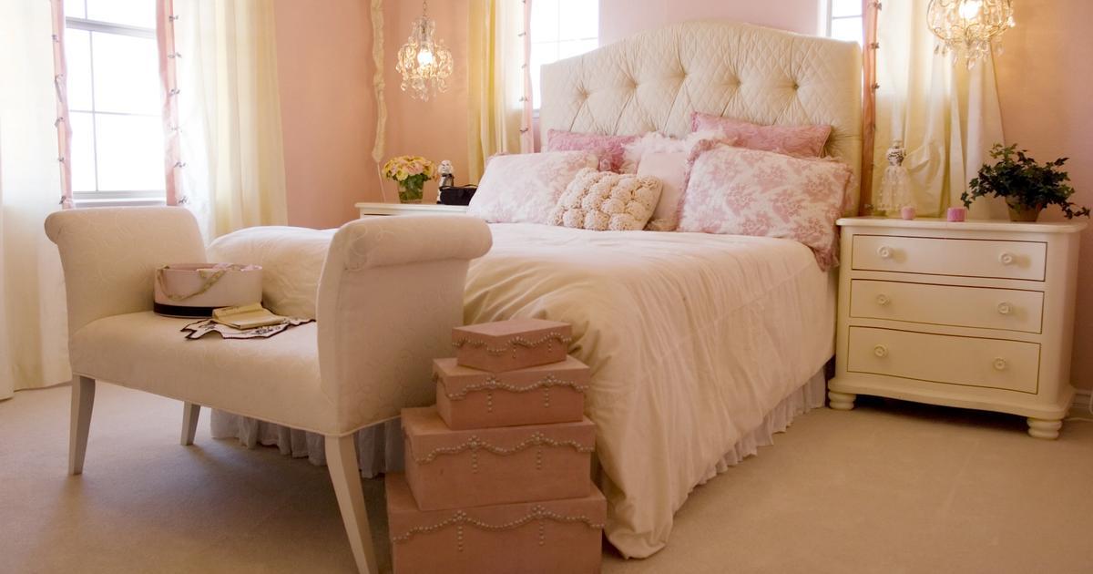 Jasna sypialnia z pikowanym kiem pomys na sypialni - Juegos para chicas de decoracion ...