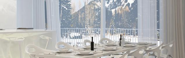 Nowoczesna jadalnia - styl minimalistyczny