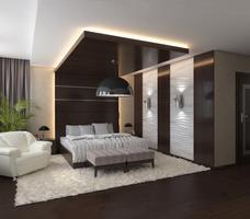 Wystrój sypialni - podwieszany sufit