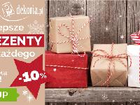 Prezenty w 48h ze zniżką 10% w Dekoria.pl