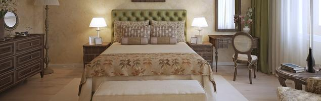Sypialnia w stylu vintage – klasyczna kolorystyka