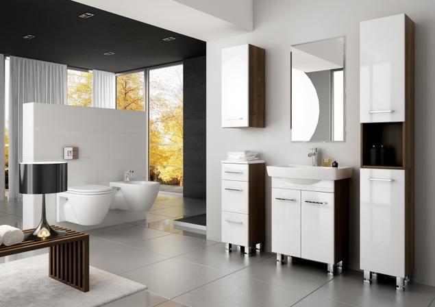 Zobacz galerię zdjęć Nowoczesne meble łazienkowe w dużej łazience. Aranżacje łazienki z ...